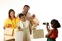 South Indian daughter photographing parents and brother in video camera MR748S,748T,748U,748V
