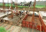 Men working at construction site , Delhi , India