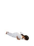 Girl practicing ashtangnamaskar asana MR779J