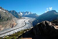 view over aletsch glacier