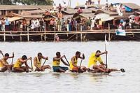 Boat race on punnamada lake , Alleppey , Alappuzha , Kerala , India