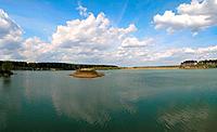 Little island on lake