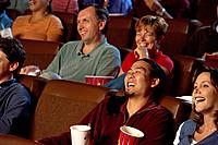 Audience Laughing at Movie