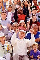 Cheering in the bleachers