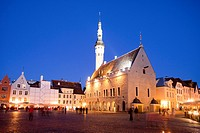 Estonia , Tallin City ,The City Hall at City Hall Square.