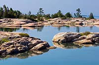 Fox Islands in Desjardins Bay, Ontario, Canada.