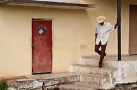 Man in rural area near Holguin, Cuba