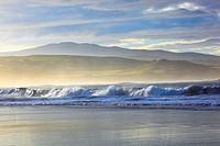 coast in Coldbackie Bay in evening mood, United Kingdom, Scotland, Sutherland