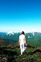 Girl in mountain