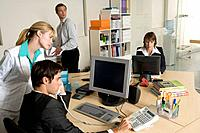 Busy Businesspeople in Office