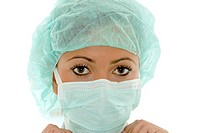 young attractive surgical nurse