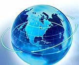 Directional Arrows Around Globe