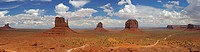 the Mittens of Monument Valley, USA, Arizona, Buttes