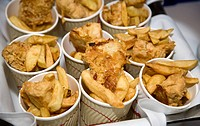 Mini fish n chip cups