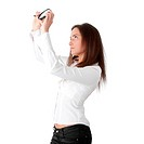 The woman with a magnifier