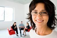 Businesswoman, close up portrait