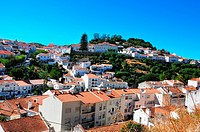 Old town,village on the hillside in Portugal