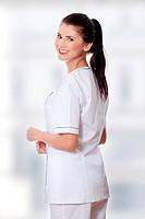 Female doctor or nurse