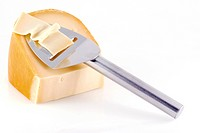 Cheese with slicer.