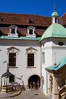 Austria, Styria, Graz, Landhaus, Landhaushof, Arcaded Courtyard.