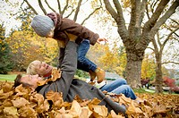 Family Playing in the Park, Vancouver, British Columbia