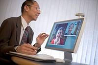 Businessman Videoconferencing