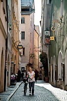 Downtown of Regensburg, Unesco World Heritage Site, Regensburg, Upper Palatinate, Bavaria, Germany, Europe