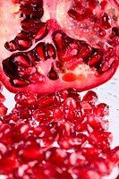 Pomegranate grains removed close up