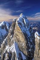 Aerial of Mount Waddington, British Columbia, Canada.