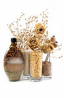 beautiful kitchen still life and dry flowers