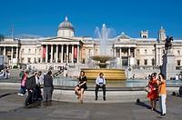 Trafalgar Square central London England UK Europe