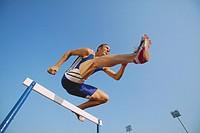 Hurdler Jumping Hurdle