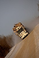 Approaching logging truck