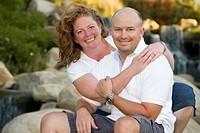 Attractive Couple Portrait in Park