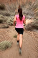 Running _ woman runner in motion