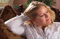 Pensive Attractive Woman