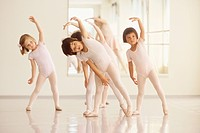 Young Ballet Class Practicing