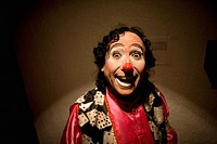 A clown smiles as he posses for a picture at the 16th International Clown Convention: The Laughter Fair organized by the Latino Clown Brotherhood, in ...