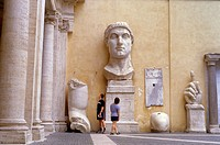 Remains of a giant statue of the emperor Constantino,Conservatori Palace,Capitoline museum,Rome, Italy