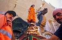 Corpus Christi procession,Tarasca,in plaza Pasiegas, Granada, Andalucia, Spain