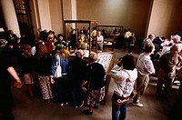 Visitors Viewing the Treasures of Tutankhamen at the Egyptian Museum