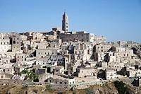 view of matera, basilicata, italy, europe