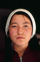 Portrait of a young Uyghur woman  Kashgar  Xinhiang  China