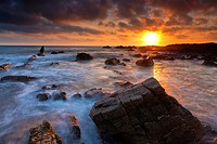 The rocky shores of Hartland Quay in North Devon, England, United Kingdom, Europe