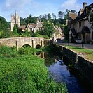 The village of Castle Combe, Wiltshire, England