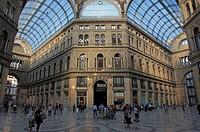 Italy, Campania, Naples, Galleria Umberto I, shopping arcade,