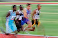 Athletes Competing In Race, Defocused