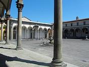 Piazza della Santissima Annunziata, Florence, Tuscany, Italy, Europe