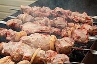 Shish Kebab On Brazier