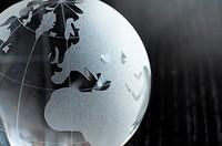 global business on black